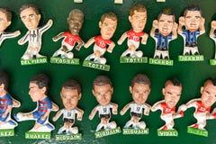 著名足球运动员纪念品磁铁  库存图片