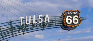 著名路线66签到土尔沙俄克拉何马-土尔沙-俄克拉何马- 2017年10月17日 库存图片