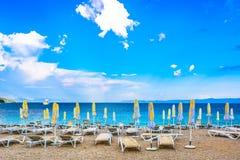著名金黄海角海滩在克罗地亚, Brac海岛 库存照片