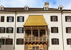 著名金黄屋顶-因斯布鲁克奥地利 图库摄影