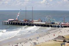 著名钢码头在大西洋城,新泽西 库存图片