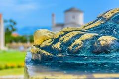 著名镇Nin在克罗地亚 免版税图库摄影