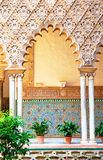 著名阿尔汉布拉的庭院 免版税库存照片