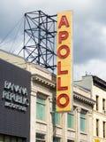 著名阿波罗剧院在哈林,纽约 免版税库存照片