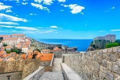 著名风景在克罗地亚,杜布罗夫尼克 库存图片