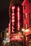 著名风车表舞蹈酒吧在伦敦伦敦西区-伦敦苏豪区伦敦英国 库存图片