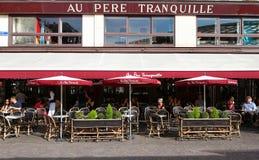著名餐馆澳大利亚pere tranquille,巴黎,法国 免版税库存照片