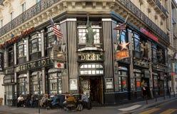 著名餐馆美国梦,巴黎,法国 免版税库存图片