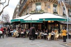 巴黎著名餐馆 免版税库存照片