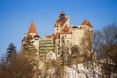 著名麸皮城堡在特兰西瓦尼亚 库存图片