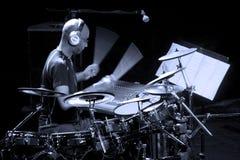 鼓手艺术家奥马尔Hakim 免版税图库摄影