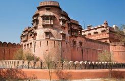 著名16世纪Junagarh堡垒塔在印度 免版税库存照片