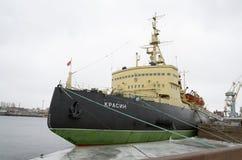 著名破冰船, Krasin, 免版税库存照片