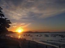 著名负子蟾海滩的看法-网的 免版税库存照片