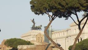 著名`阿尔塔雷della Patria `在罗马,意大利 股票视频