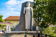 著名budda雕象在斯里兰卡 免版税库存图片