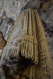 著名Cango的特写镜头在Oudtshoorn,一点南部非洲的干旱台地高原陷下在南非 免版税图库摄影