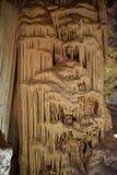 著名Cango的特写镜头在Oudtshoorn,一点南部非洲的干旱台地高原陷下在南非 库存图片