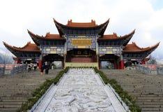 著名chongsheng寺庙在大里市,瓷 免版税库存图片