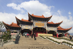 著名chongsheng寺庙在大里市,瓷 免版税库存照片