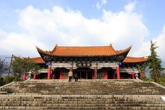 著名chongsheng寺庙的宫殿在dali cit的 免版税库存图片