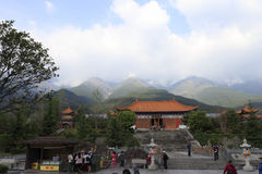 著名chongsheng寺庙的议院在大里市 库存图片