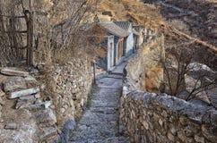 著名Chuandixia明朝村庄 图库摄影