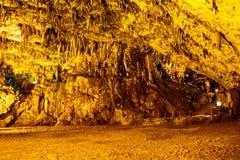 著名Drogarati洞,凯法利尼亚岛,希腊 库存照片