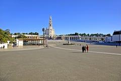 著名fatima iteresting的位置点葡萄牙宗教viewl 免版税库存照片