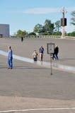 著名fatima iteresting的位置点葡萄牙宗教viewl 免版税库存图片