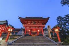 著名Fushimi Inari-taisha在京都 免版税库存图片
