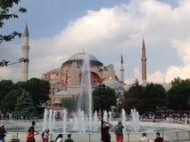 著名hagia伊斯坦布尔sophia 免版税图库摄影
