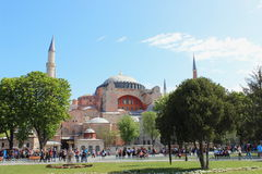 著名hagia伊斯坦布尔sophia 库存图片