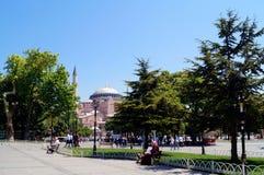 著名hagia伊斯坦布尔sophia 免版税库存照片