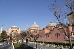 著名hagia伊斯坦布尔sophia 库存照片