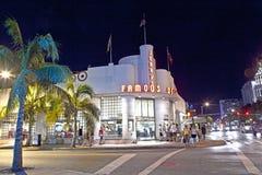 著名Jerrys熟食店在南迈阿密 库存照片