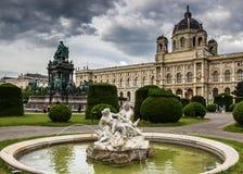 著名Kunsthistorisches博物馆美丽的景色  维也纳 图库摄影
