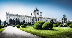 著名Kunsthistorisches博物馆(艺术馆历史)在维也纳,奥地利 免版税库存图片
