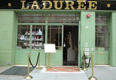 著名Laduree面包店和茶室在伦敦苏豪区在纽约 免版税库存照片