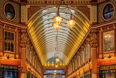 著名Leadenhall市场在伦敦英国 免版税图库摄影