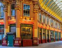 著名Leadenhall市场在伦敦英国 库存照片