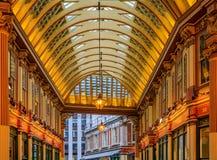 著名Leadenhall市场在伦敦英国 图库摄影