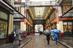 著名Leadenhall市场,伦敦,英国 图库摄影