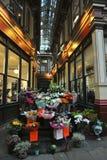著名Leadenhall市场,伦敦,英国 库存图片