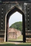 著名lopburi narai宫殿phra rachanivej破坏thail 库存照片