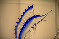 著名Murano玻璃在威尼斯 免版税图库摄影