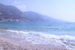 著名Oludeniz海滩在费特希耶 库存图片