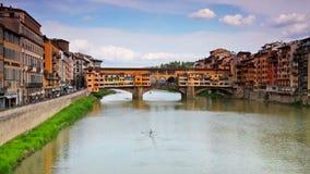 著名Ponte Vecchio桥梁在佛罗伦萨 股票视频