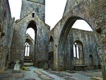 著名Quin修道院在爱尔兰 免版税库存照片