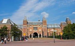 著名Rijksmuseum在阿姆斯特丹 免版税库存图片